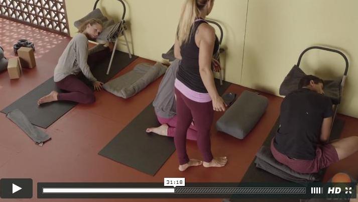 Jules Mitchell Teaching Yoga