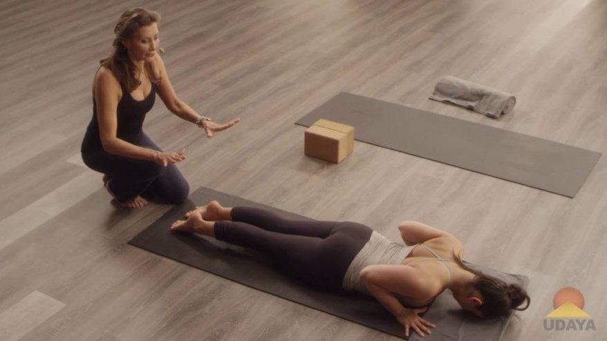 Cobra yoga pose tutorial