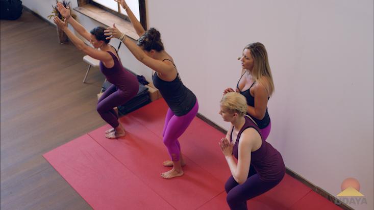 Chair pose yoga tutorial
